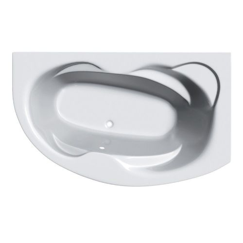 Eclipse 1500mm x 1000mm Offset Corner Bath & Panel - Right Hand